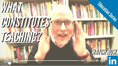 Photo of What Constitutes Teaching?