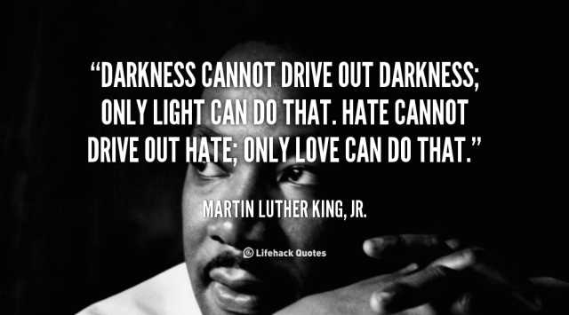 Martin Luther King, Jr. Quote Darkness Leadership Follow