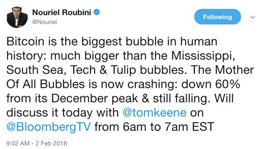 Roubini on BTC