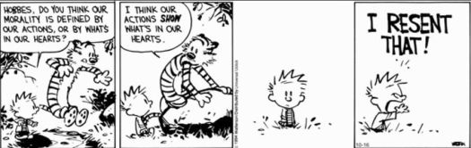 calvin and hobbes justification
