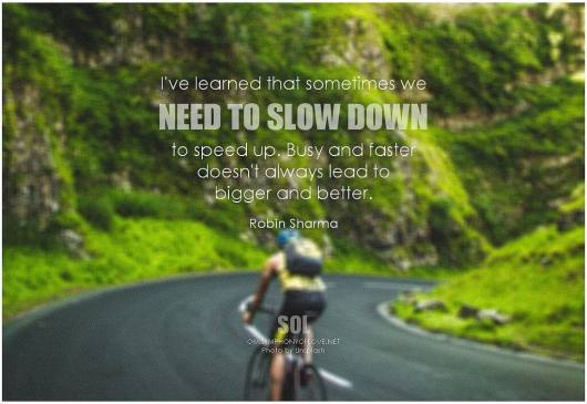 slow down to speed up robin sharma