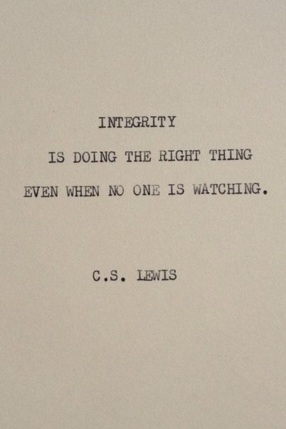 integrity cs lewis