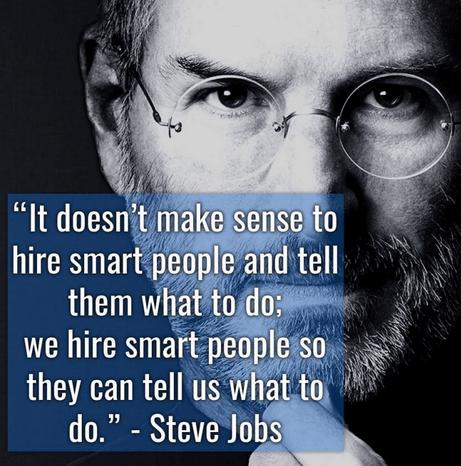 steve jobs smart people