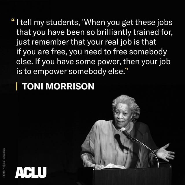 toni morrison Empower Quote
