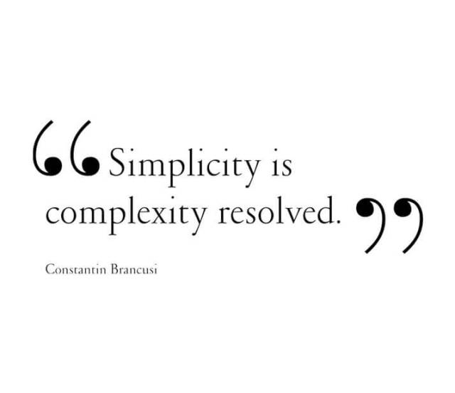 simplicity is complexity resolved