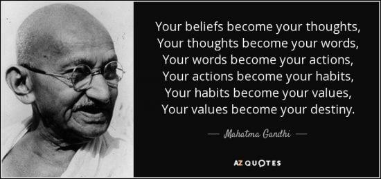 Ghandi Quote Believe