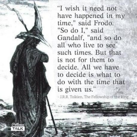 Tolkien. Crisis Leadership. Focus forwards.