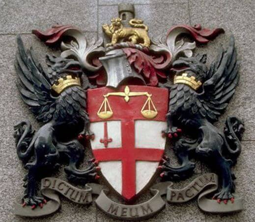 London Stock Exchange Coat of Arms Dictum Meum Pactum