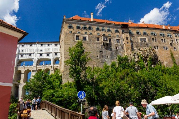Český Krumlov wall