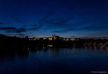 Prague Castle at night