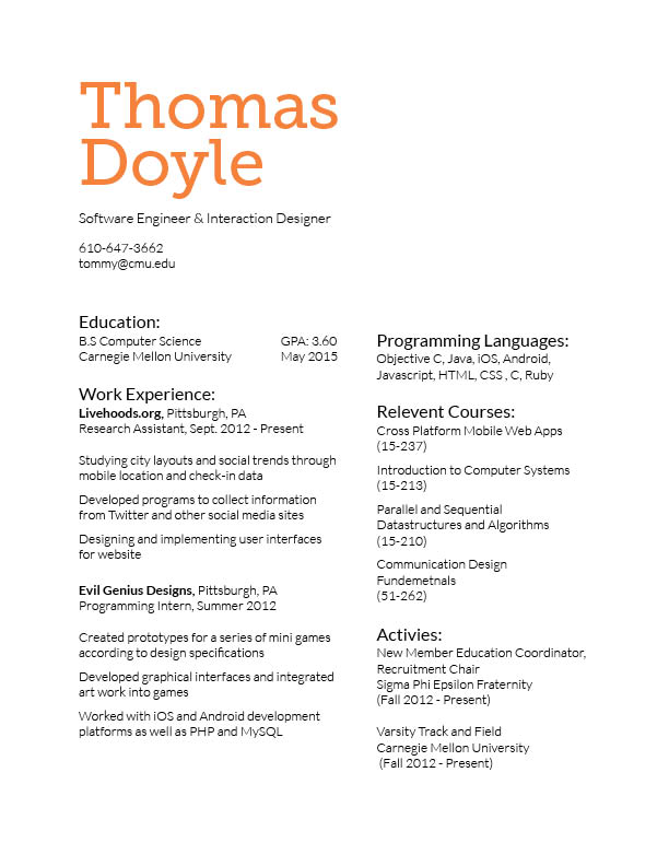 How can I improve my resume?