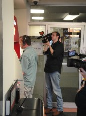 """July 10, 2010 - Ben Churchill & Francis Sheehan filming Tommy Edison for """"How Blind People Use The ATM"""""""