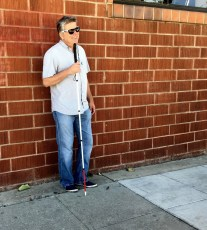"""July 16, 2016 - James Rath, Tommy Edison at the shoot for """"How Pokemon Go Affects Blind People"""""""