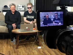 Nov. 11, 2016 - Tommy Edison and legally blind filmmaker/YouTuber James Rath shoot a collab video