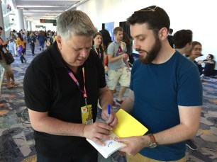 June 22, 2017 - Tommy Edison signs his life away at VidCon 2017