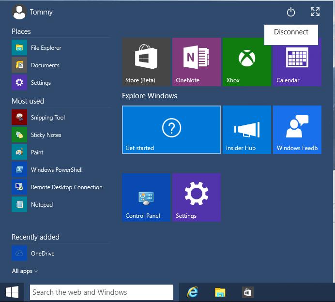 Shutdown Windows 10 via RDP 01