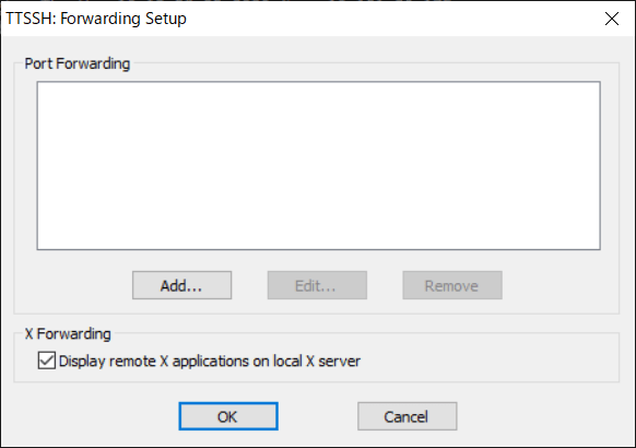 X window setting of tera term