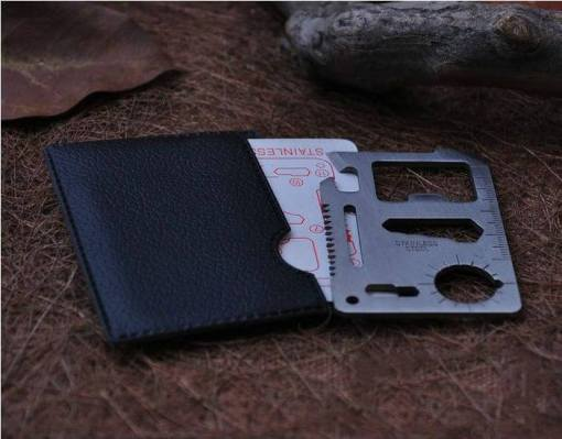 11 Function Credit Card Size Survival Tool With Case