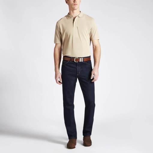 RM Williams 'Rod' Polo Shirt - Bone