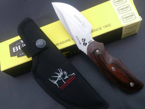 Tactical Army Knife with Fixed Blade, Wooden Handle and Sheath