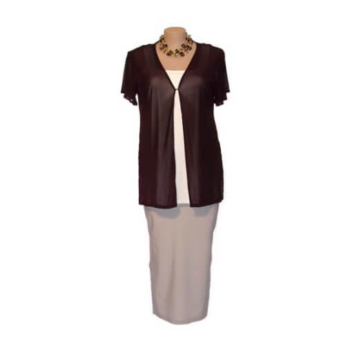 Plus Size Split-sleeve Summer Jacket - Choc