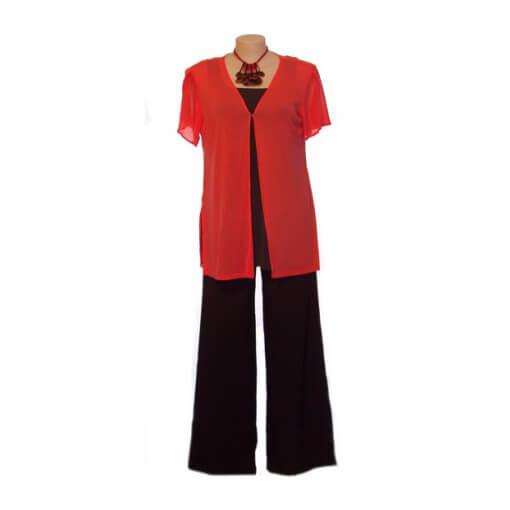Plus Size Split-sleeve Summer Jacket - Coral