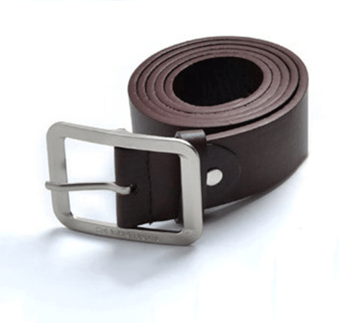 Unisex belt with silver buckle
