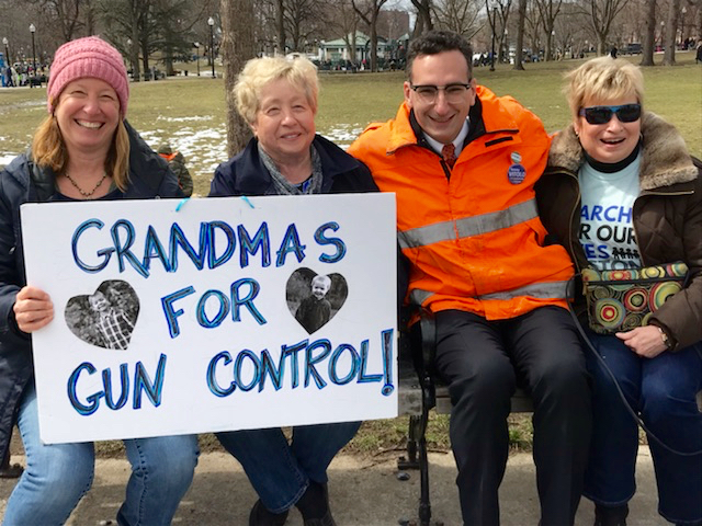 Tommy Vitolo and Grandmas for Gun Control at the March for Our Lives on the Boston Common