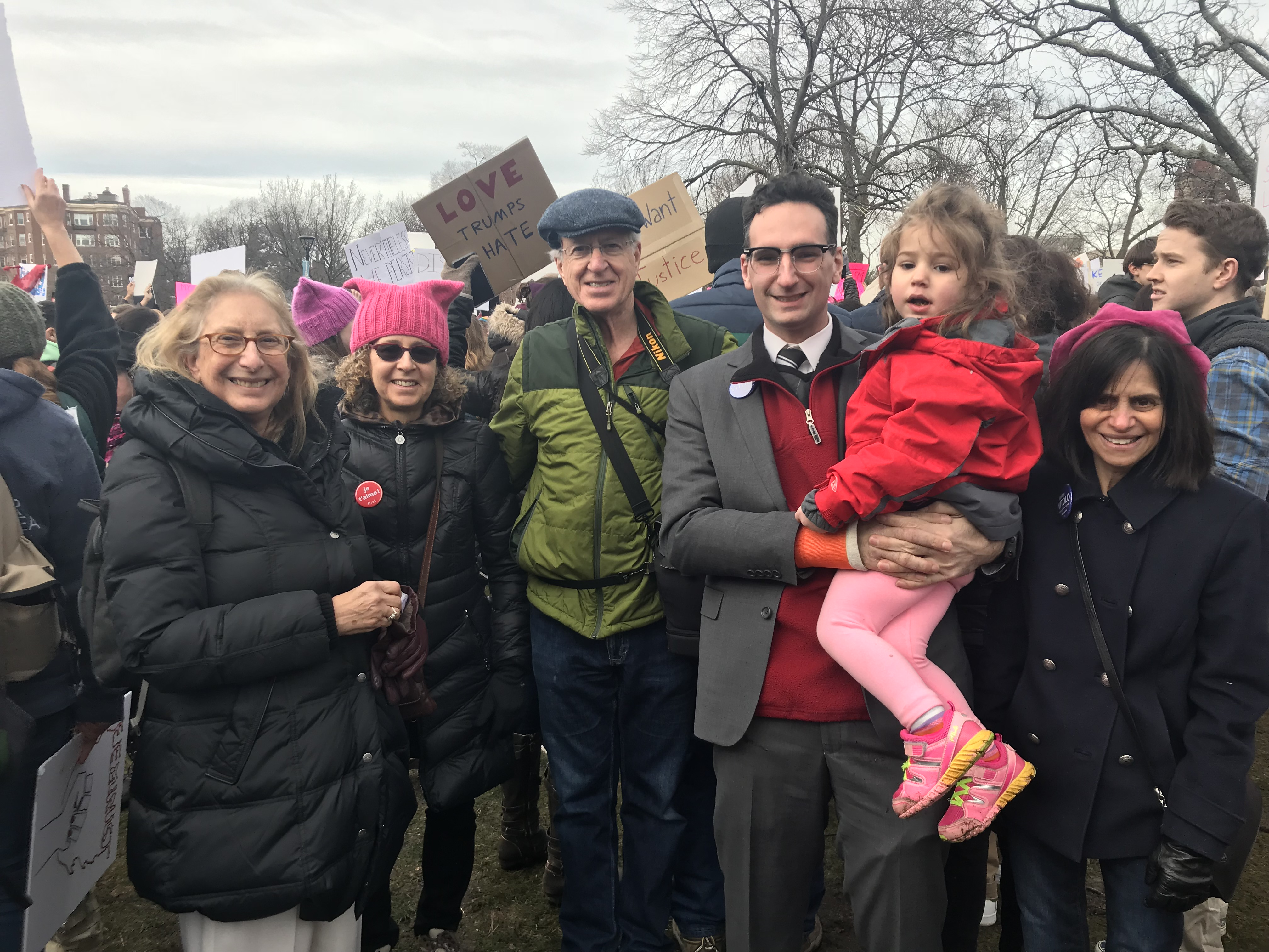 Tommy Vitolo and daughter at Women's March