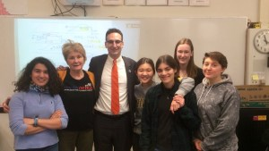 Tommy Vitolo with Brookline High School Environmental Club
