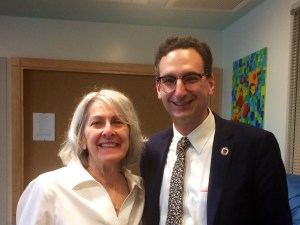 Tommy Vitolo and Arlene Mattison at Brookline GreenSpace Alliance breakfast