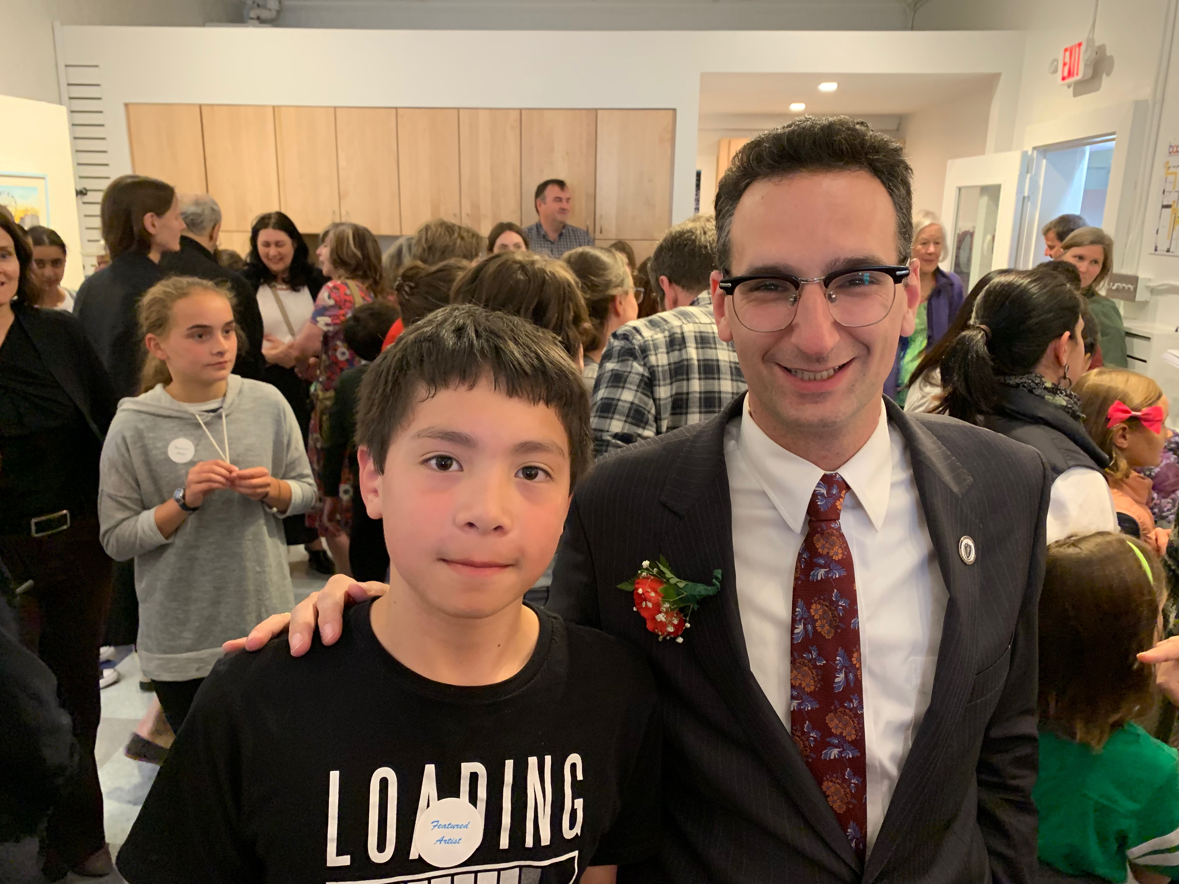 Tommy Vitolo with Brookline Arts Center Gadsby Award Winner