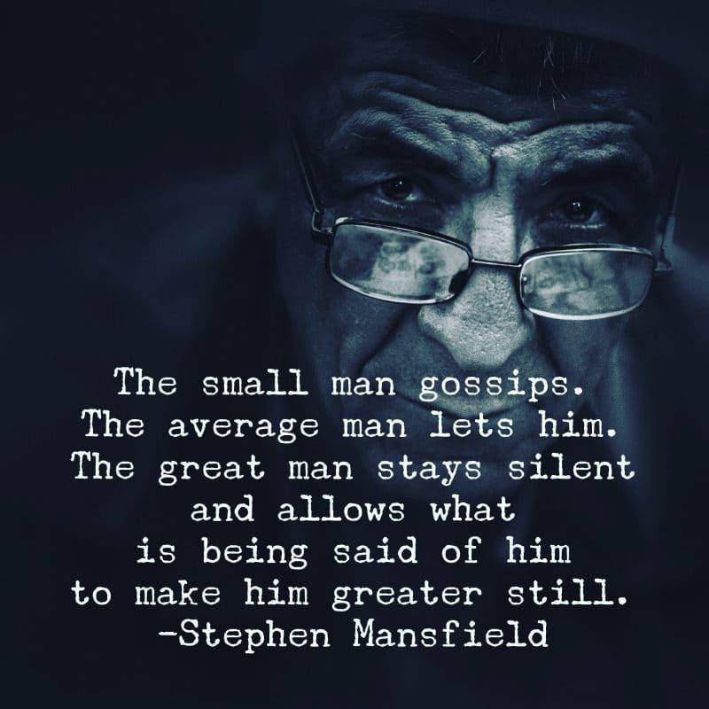 Steven Mansfield Quote Gossip