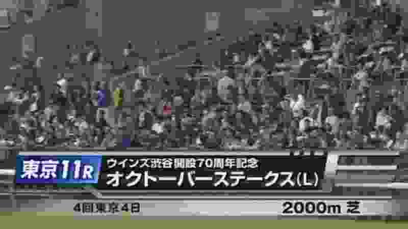 【競馬】東京11R  オクトーバーs  レース結果 2019 10/21