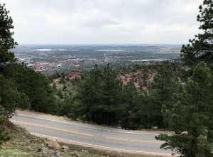 Flagstaff east over city