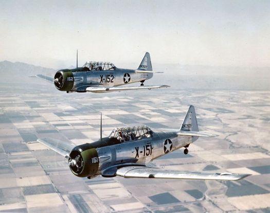USAAF AT-6Cs near Luke Field, 1943
