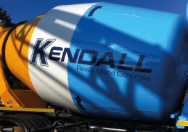 Vinyl applied to concrete mixer