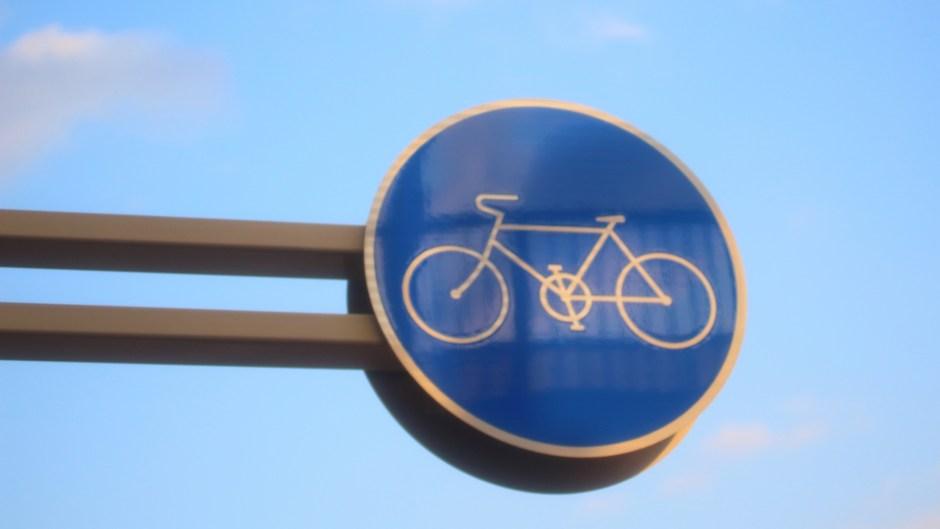 自転車の標識(おやこじてんしゃプロジェクト)
