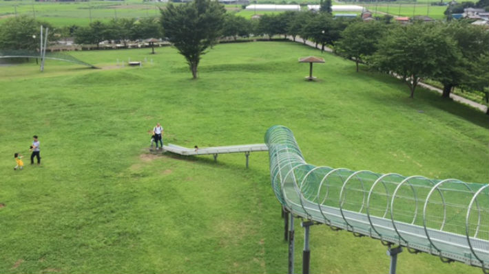 行田市スカイスポーツ公園の巨大すべり台