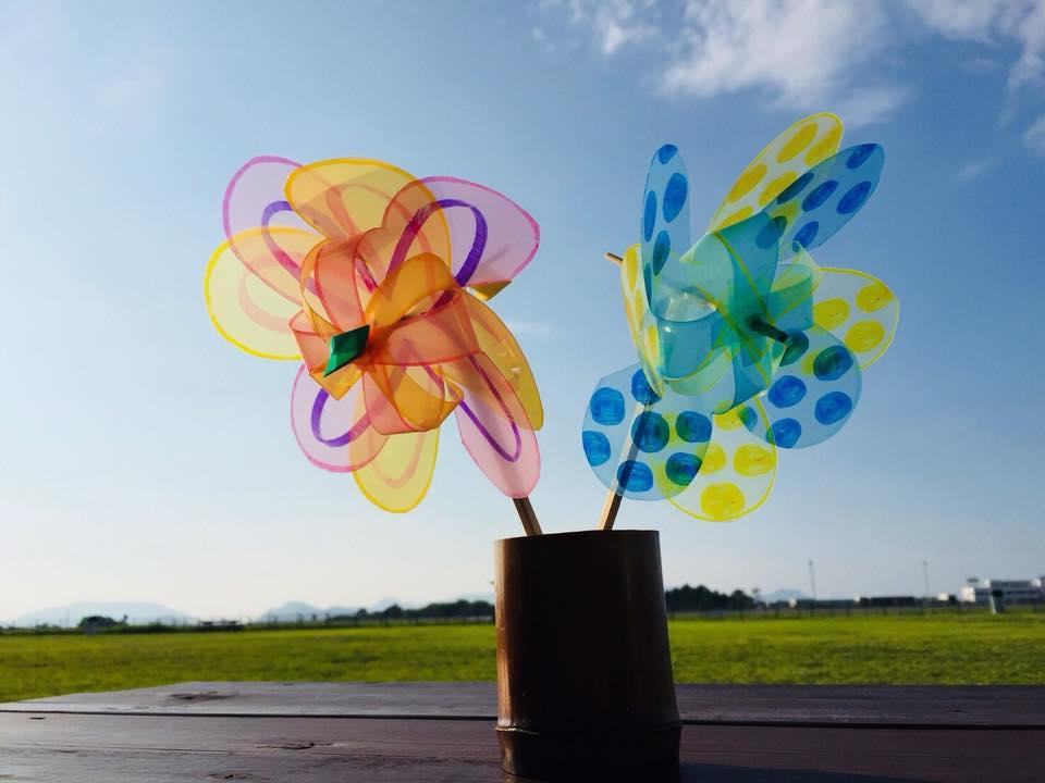 花の形の風車