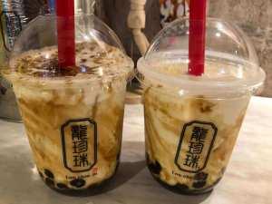 龍珍珠 (ロンチンジュ) 梅田店で焦がし黒糖タピオカミルクを飲んでみた感想