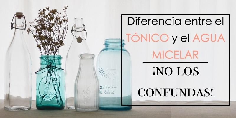 Diferencia entre tónico y agua micelar