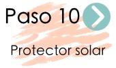 paso 10 rutina kbeauty protector solar