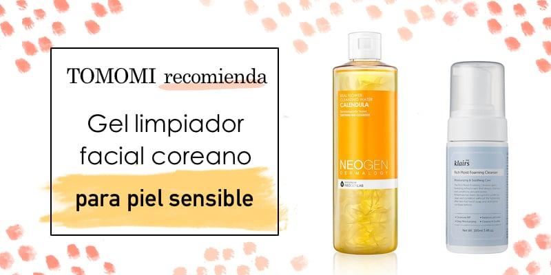 gel limpiador facial para piel sensible