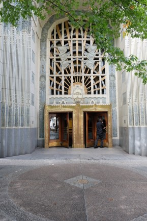 Art Deco entrance to the Marine Building in downtown Vancouver