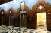Art Deco lifts in the Marine Building, Vancouver