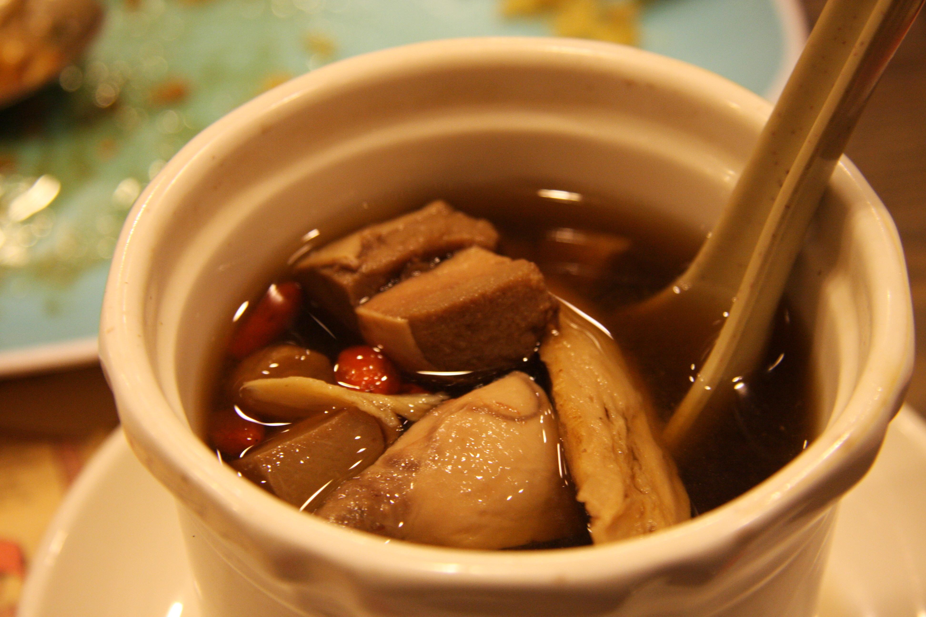 Goat testicle soup