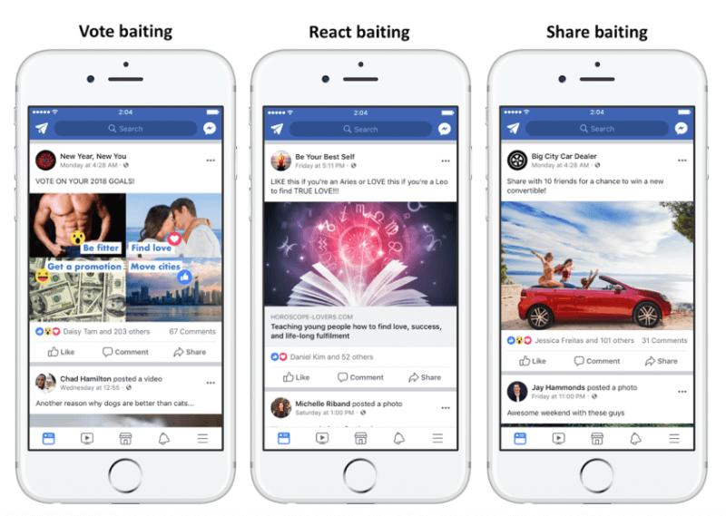 Facebook Algorithm Changes - Click baiting posts