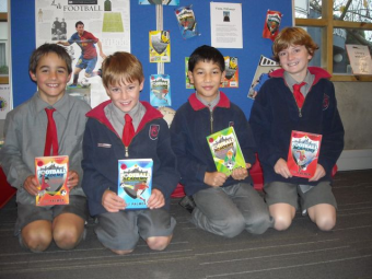 Will, Sam, Sushanta and Finnian at Fendalton Open Air School