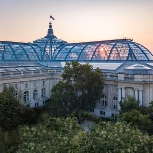Soleil dans la verrière du Grand Palais
